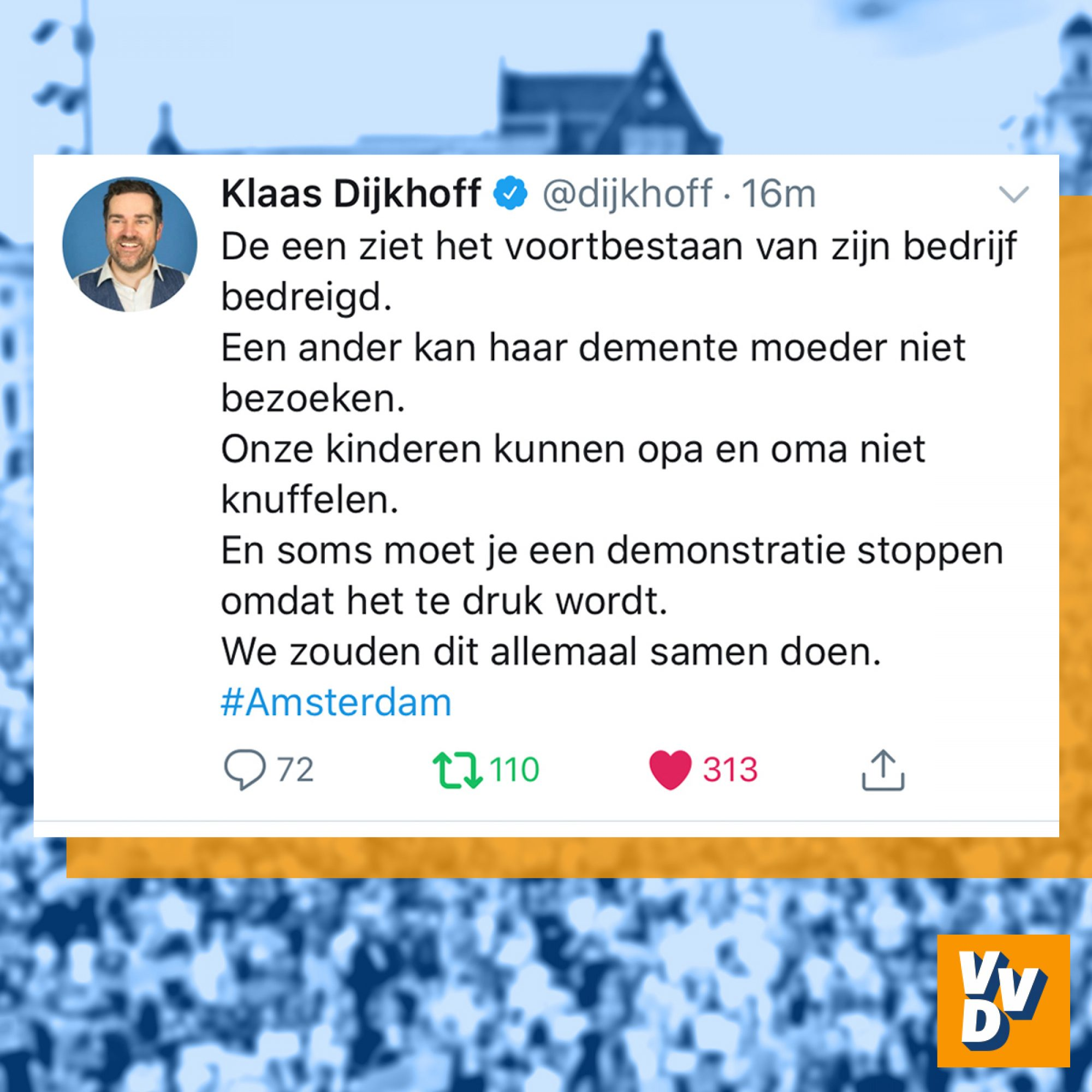Klaas Dijkhoff over demonstratie in Amsterdam 1
