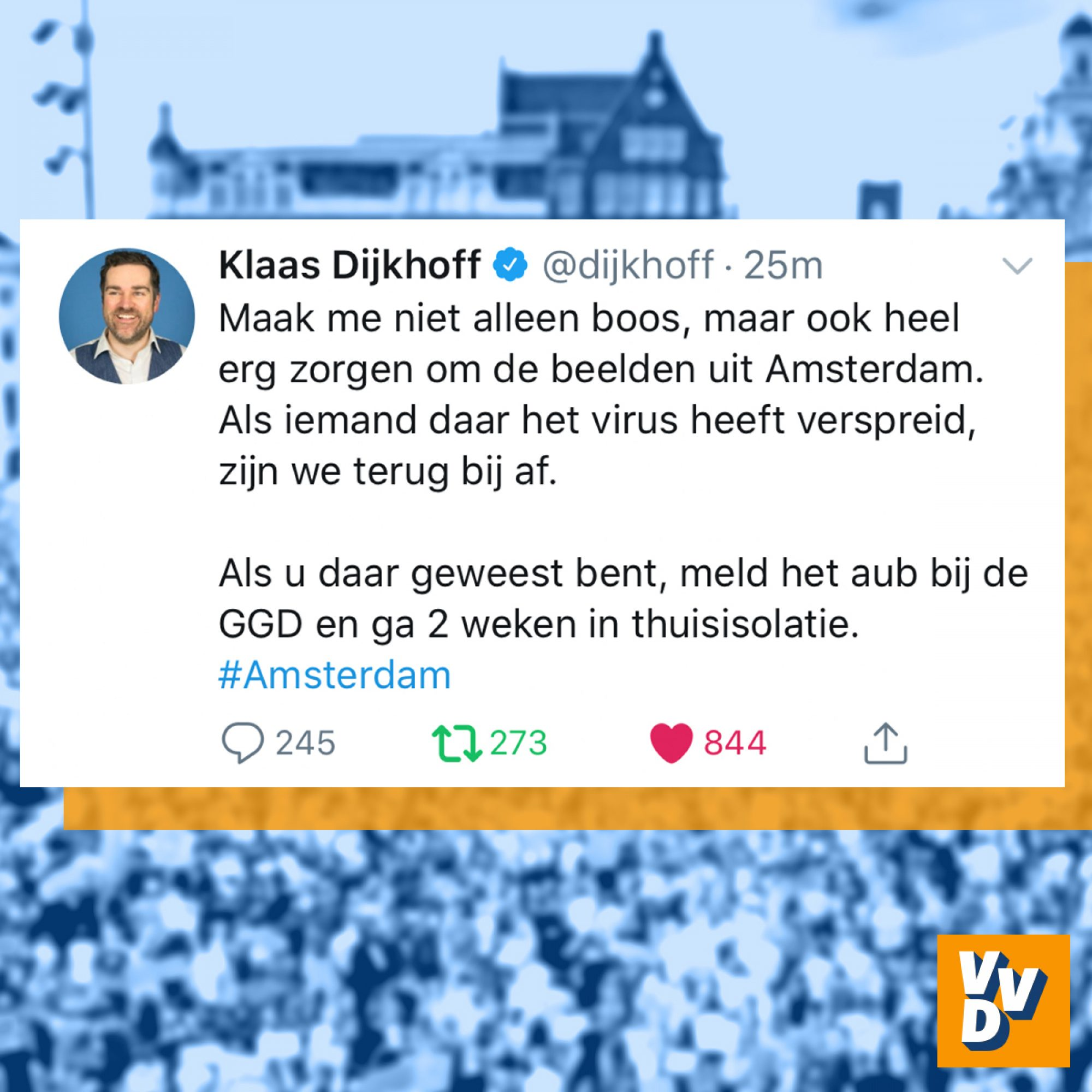 Klaas Dijkhoff over demonstratie in Amsterdam 2